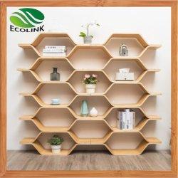 Plank van de Vertoning van het Boekenrek van het Meubilair van het bamboe Hexagon