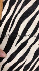 동물성 모피 얼룩말 패턴 인쇄 암소 머리 종아리 피부 은신처 일렬로 세우는 단화 위 만드는 물자 또는 부대 물자 또는 가구 직물을%s Breathable 진짜 가죽