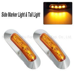 Amber 4 LED SMD Marcadores Laterais Traseiras da lâmpada de Folga Carro Carreta