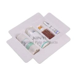 Umweltfreundliche Benutzerdefinierte Papier Zellstoff Tray Geformte Zellstoff Kosmetische Verpackung