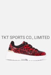 La serpentine Glitter Fashion femmes Sneakers chaussures chaussures occasionnel de Lady Sk1936375b