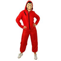Salvador Dali La Casa De Papel vermelho Jumpsuit Global TV & Filme Traje famosos