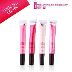 (LG106) tubo suave 15ml de líquido hidratante de larga duración Lip Gloss con tapa negra mate