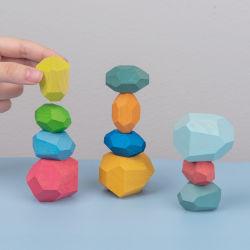 [هيغقوليتي] خشبيّة زاهية أحجار جدية يرجو لعبة خشبيّة أطفال لعب تربويّ