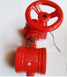 صمام الفراشة اليدوي لإشارة نوع حز مكافحة الحرائق