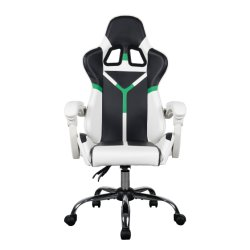 precio de fábrica personalizada de diseño ergonómico cómodo reposabrazos yacente Casual blanco de 100mm varilla Gas Silla de oficina silla de salón de juegos
