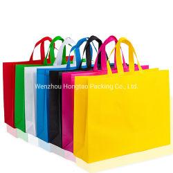 エコフレンドリー高品質再生カスタムロゴの再利用可能 ハンドル付きの不織布 PP キャリアバッグ
