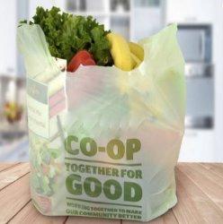 Plástico Biodagradable PLA Sacola de Compras