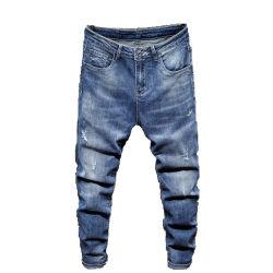 Hombre de jeans de moda de verano de los hombres Ripped Jeans