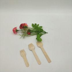 La coutellerie en bois de haute qualité écologique en bois jetable cuillère en bois de la fourche de dégustation de la vaisselle jetable en bois