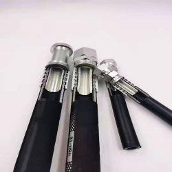 هيدروليكي مخصص عالي الضغط مصنوع من الفولاذ الذي يعمل بالسحب الأسودالأسود المطاطي خرطوم خراطيم هيدروليكية المطاط أسعار / أسماء العلامات التجارية الخرطوم الهيدروليكي