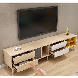 현대적인 디자인의 원목 LED TV 캐비닛과 거실 가구를 위한 쇼케이스