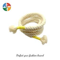 옷용 로프 소형 화이트 코튼 크롭 후디 편조 사용자 지정 튜브형 두꺼운 조절끈 코드 허리 Legings
