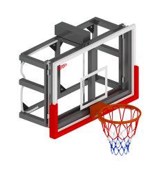 Elektro-Hebegehärtetes Glas Basketball Backboard Wandmontage Backboad System, Basketball Hoop