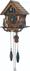 Relógio de cuco pequeno com Chalet