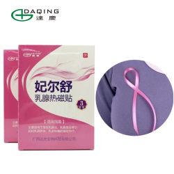 La terapia de calor para aliviar el dolor de pecho cálido, parche para mujer