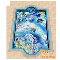 Muurschilderingen van het Mozaïek van het Glas van de Pool van het Patroon van de Vissen van het Mozaïek van het Glas van de Kunst van het Ontwerp van het Zwembad van de luxe de Oceaan