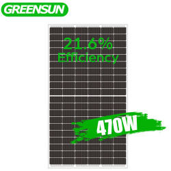 Mayorista de Greensun Mono de las células de la mitad de 12V 440W 450W 460W panel solar para el sistema de Energía Solar