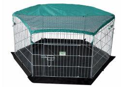 Todo en uno de 6 paneles exteriores cable de metal galvanizado corralito mascotas Conejo de gran tamaño de la Conejera Metal Indoor Dog Fence