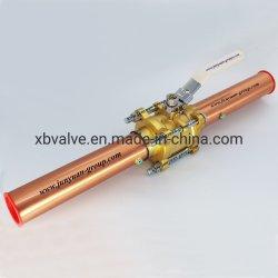 Clapet à bille de gaz médicaux en laiton avec extensions brasée clapet à bille d'oxygène médical Assemblée Vanne Arrêt de contrôle de la porte Globe