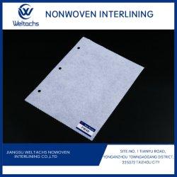 100% 폴리에스테르 검 스테이 비우븐 퓨저블 인터안감 접착제 패브릭 1 사이드 컷 어웨이 의류 소재의 비 우븐 인터라이닝 소재