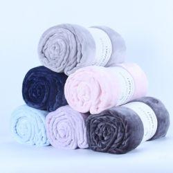 Personnalisé de haute qualité solide flanelle Selimut Bulu Coral Fleece Blanket