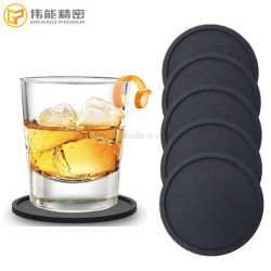 Логотип Cutomized круглых резиновых чашки коврик силиконовый Coaster вина пиво стекло Coaster