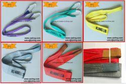 Polyester-flacher Material-Riemen mit anhebenden Augen von 1t zu 10t