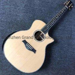 Ebony Fingerboard 41 Polegadas guitarra elétrica acústico com real do Descanso de Braço Abalone Solid Spruce violão acústico de Corte Superior