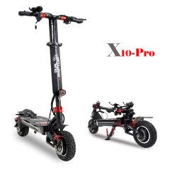 X10-PRO dos motores motos eléctricas con neumático de 10 pulg.