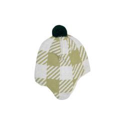 高品質の女性のためのカスタムニットの冬のウールの綿の毛皮POM POMの帽子の帽子