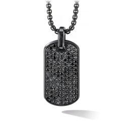 Мода украшения черный очарование подвесной мужчин бриллиантовое ожерелье из нержавеющей стали