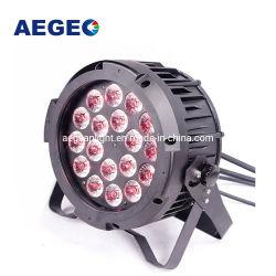 Voyants LED plat de plein air 18x12W RGBWA 5dans1 conduit par, vous pouvez éclairage de scène étanche