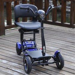 Легкий и удобный складывается наиболее востребованных 4 Колеса мотоцикла электрического скутера мобильности с детьми сиденье очень компактный Скутер