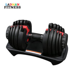 2021 Ladman Fitness Hot Selling Strength Equipment 90lb regolabile automaticamente Set di manubri per Body Building Hot