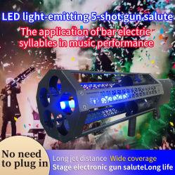 Five-Shoot LED Light Confetti Stage Equipment DMX Control Elektrische vuurwerken Jet DJ-apparatuur