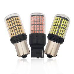 144 SMD 3014 شرائح LED CANbus P21W السيارة الرجوع للخلف ضوء إشارة الانعطاف الخلفي 1156 أمبير في الساعة 15s