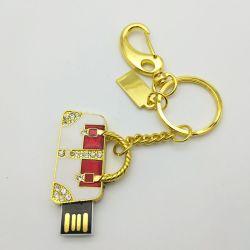 Dorado y plateado en el bolso de moda accesorios de diamantes Joyería Regalo USB Pen Drive 4GB 8GB 16GB 32 GB 64 GB de disco de memoria Pendrive