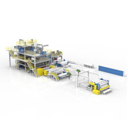 2400mm SMS Spunbond 용융 수지 제조 기계 제작 탁월한 여과 성능 Bfe 95 우수한 장벽 속성