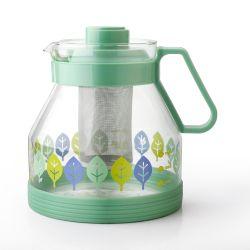 Insiemi di plastica all'ingrosso del POT del tè di vetro verde dei POT del tè e del caffè del fiore