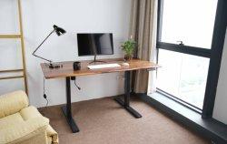 Piano di sollevamento per ufficio con bordo attivo in noce nero pieno Tavolo 30X60X0,8 pollici