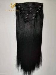 結び目はインドのRemyの毛のケラチンクリップ毛の拡張を基づかせていた