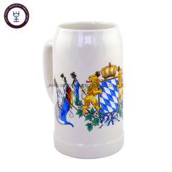 1L工場価格のブランクの白い石器のビールのジョッキ
