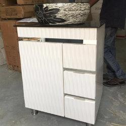 2019 Vente chaude 60cm Salle de bains en PVC de la moitié de la vanité sans miroir