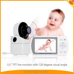 """Monitor para bebés com câmaras Pan-Tilt-Zoom Remoto e ecrã LCD de 3,5"""", para uma visão nocturna por infravermelhos"""