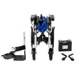 مقعد متحرك مزود بوسادة زرقاء قابل للطي مع سعر لطيف