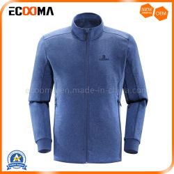 Veste décontractée de couleur bleue des hommes d'hiver vestes polaire en bonneterie Vêtements de dessus