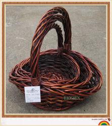 Salgueiro Dom artesanais de vime cestas de flores