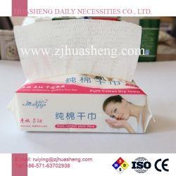 Nonwoven使い捨て可能な100%Cotton乾燥したワイプ、構成の取り外しのための顔ティッシュ