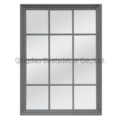 Dis gris miroir rectangulaire décoratifs châssis / Accueil décoration murale